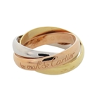 Cartier 卡地亞 Trinity系列 18K金三色三環戒 Ring #50【二手名牌 BRAND OFF】