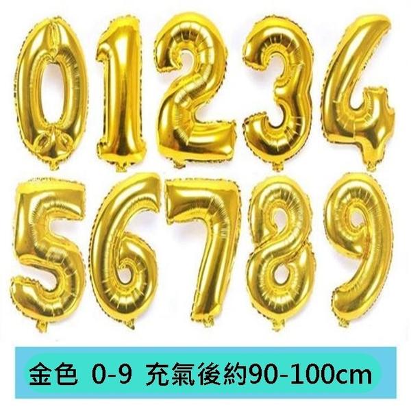 0-9數字 40吋 鋁箔氣球 數字氣球 40吋氣球(0-9) 空飄氣球 大號鋁箔氣球 氣球【塔克】