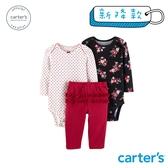 【美國 carter s】 碎花荷葉3件組套裝-台灣總代理