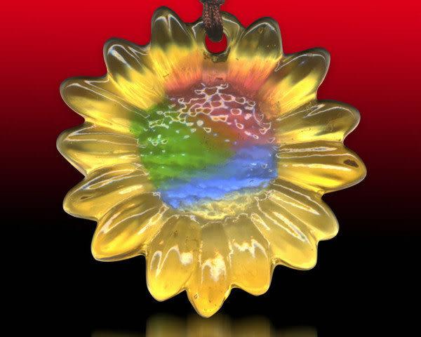 鹿港窯~居家開運水晶琉璃項鍊~向日葵 附精美包裝 ◆免運費送到家◆