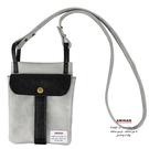 灰色休閒兩用袋  斜背包 / 腰包  AMINAH~【am-0276】