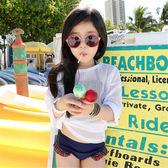 兒童泳衣女童比基尼女孩中大童韓國走秀泳裝女童遊泳衣分體中大童  中元節禮物