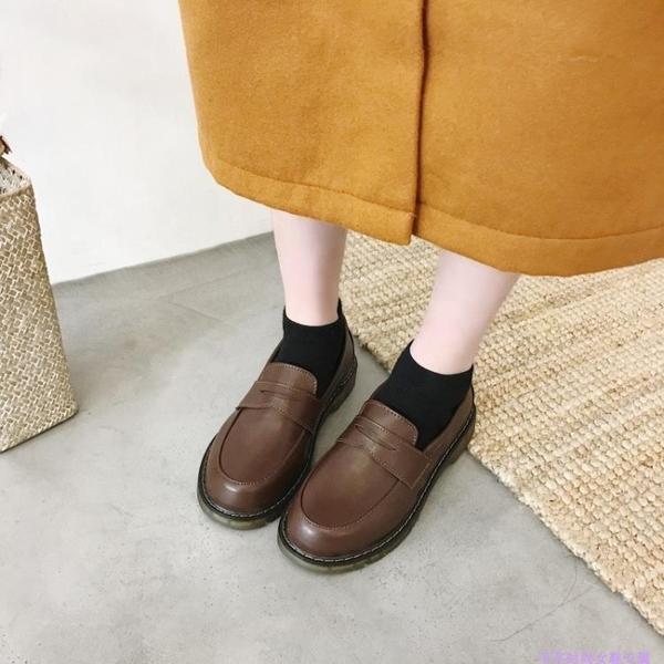 ★2018夏季新款JK制服單鞋可愛日系透氣學生小皮鞋平底休閑圓頭鞋潮