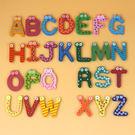 木製卡通26個英文字母 可愛圖案 學習 字母冰箱貼 寶貝童衣
