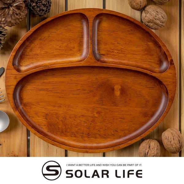 BESTECK 洋槐木分隔盤.健康分格餐盤 圓型三格餐盤 方型木頭餐盤 兒童餐盤 木製托盤