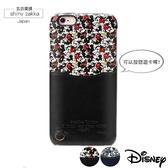 iPhone蘋果手機殼-日本Disney迪士尼i6(S)Plus卡片收納保護殼-黑色/米奇-玄衣美舖