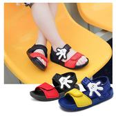 【2色】兒童涼鞋 寶寶涼鞋 全防水涼鞋 男童涼鞋 休閒涼鞋 魔鬼氈 米奇 男童鞋 H6112