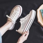 夏季透氣網面小白鞋女鞋2020年新款夏天爆款春夏百搭厚底帆布鞋子 童趣屋