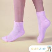 sunair 滅菌除臭襪子- 標準型運動襪短筒M(21~24.5) (粉)/SA1803