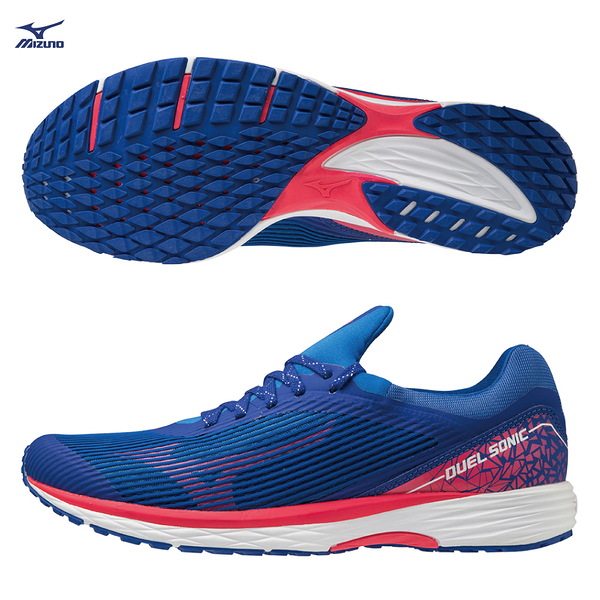 MIZUNO DUEL SONIC 男鞋 慢跑 路跑 高反發 耐磨 中高足弓 藍【運動世界】U1GD203462