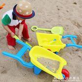 兒童大號沙灘推車玩具車套裝寶寶玩沙子挖沙漏鏟子工具      科炫數位