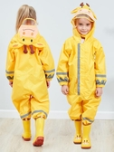 曦之桐立體連體兒童雨衣 男童雨衣女童嬰幼兒園小孩寶寶反光雨披