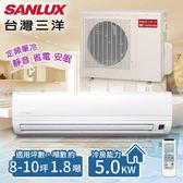 【台灣三洋SANLUX】8-10坪 定頻單冷分離式冷氣 一對一 /SAE-50FEA+SAC-50FE(含基本安裝)
