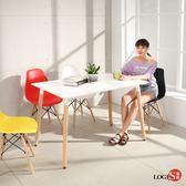 LOGIS邏爵- 自然簡約北歐寬80cm餐桌/ 長桌/ 工作桌/ 書桌/ 休閒桌 T12080W白