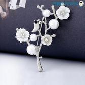 雙十二狂歡韓版貝殼復古手工胸針女花朵胸花【洛麗的雜貨鋪】