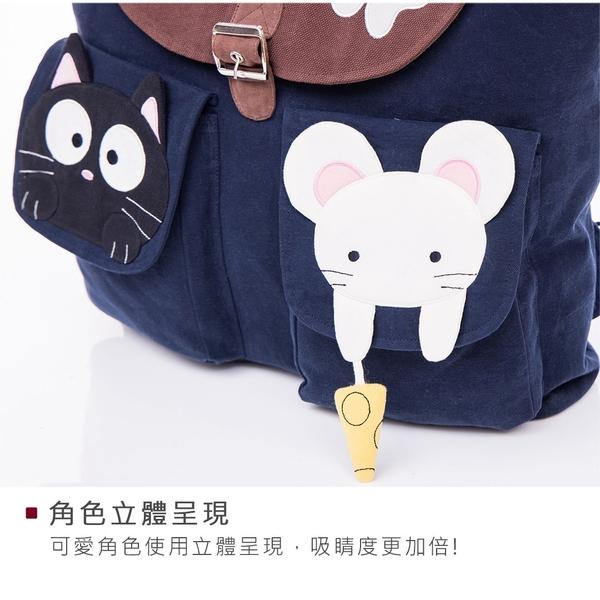 Kiro貓‧小黑貓 大容量 雙肩旅行後背/手提包/媽媽包【210969】