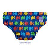 英國Bambino游泳褲 /游泳尿布- 深藍色鯨魚(9-12KG)