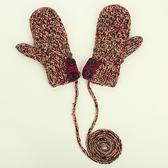 針織手套-羊毛手工編織多色鈕扣雙層女手套4色73or19【巴黎精品】