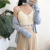 春裝2018新款仙氣美麗慵懶寬鬆紐扣針織女休閒短款小開衫毛衣外套禮物限時八九折