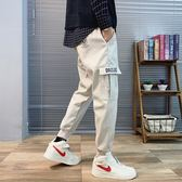 網紅褲子男韓版潮流束腳休閒九分青少年學生寬鬆錐形工裝褲男潮牌