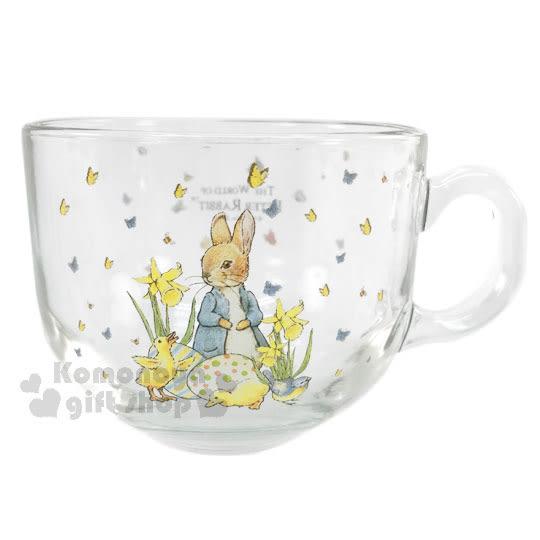 〔小禮堂〕彼得兔 玻璃湯杯《透明.500ml.立兔.小鴨.彩蛋小兔》馬克杯湯碗 4718995-21122