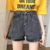 網紅同款夏季新款韓版寬鬆顯瘦高腰黑色學生直筒牛仔短褲女潮 雅楓居
