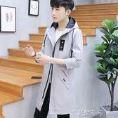 秋季外套男韓版潮流夾克男裝帥氣修身男士風衣中長款 卡卡西