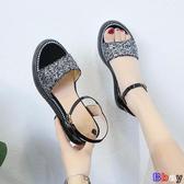 【貝貝】楔型涼鞋 厚底 坡跟涼鞋 內增高 鬆糕鞋
