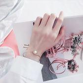 現貨-ins手鐲女韓版簡約學生森係可調節珍珠手環復古清新閨蜜手鍊潮人A11