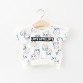 女童短袖2019新品兒童卡通圓領t恤0-1-2-3周歲兒童女寶寶夏裝上衣【82折下殺】
