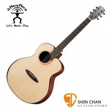 aNueNue L200 飛鳥 41吋 全單板吉他 月亮雲杉/印度玫瑰木 全單板 贈原廠木製吉他硬盒 鳥吉他 L200
