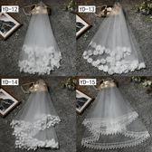 全館免運 新娘頭紗旅拍簡約頭紗短款韓式森系頭飾