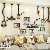 北歐創意照片墻亞克力立體墻貼相框墻客廳臥室餐廳背景墻裝飾畫CC2066『美鞋公社』