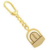 【BALLY】經典LOGO馬蹄形簍空鑰匙圈/吊飾/配飾(金色) 090162
