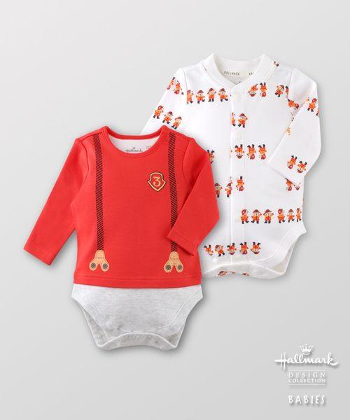 Hallmark Babies秋冬純棉消防員造型包屁衣(兩件裝) HF3-A01-10-BB-PR