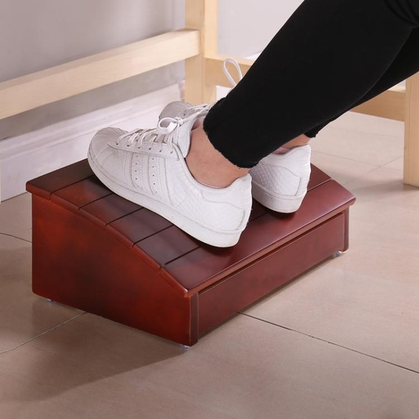 實木腳踏板電腦桌踏腳沙發腳踏鋼琴墊腳凳學習辦公擱腳凳門檻踏板 樂活生活館