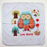 【愛的世界】貓頭鷹兩用式毛毯三角帽抱巾-藍/90*90CM ★用品推薦
