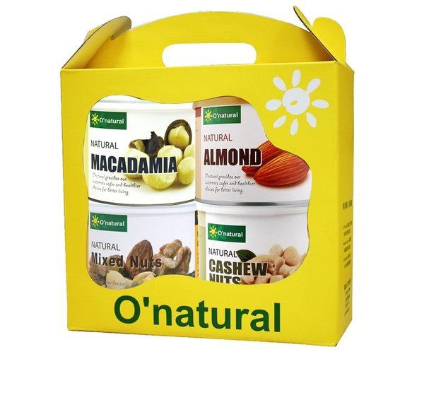 歐納丘 綜合果乾 喜相逢四入禮盒組 - O'natural 波比元氣