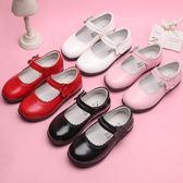 兒童女童皮鞋春夏學生鞋黑色皮鞋公主鞋女大童皮鞋  遇見生活