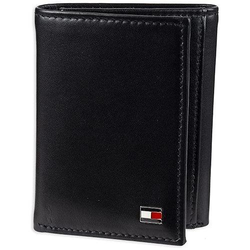 Tommy Hilfiger 雙折信用卡三折黑色皮夾