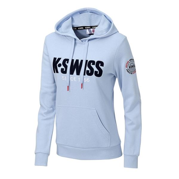 K-SWISS KS CA Hoodie連帽上衣-女-天藍