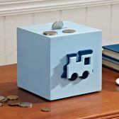 卡通車子兒童存錢罐創意男孩儲錢罐儲蓄木質硬幣筒桌面裝飾小擺件