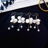 耳環 甜美 花瓣 貝殼 水晶 流蘇 樹葉 氣質 耳鈎 耳環【DD1806099】 BOBI  10/04