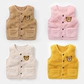 嬰兒加絨刷毛馬甲秋冬裝男童新生兒背心小童裝女寶寶外穿保暖潮Y2001