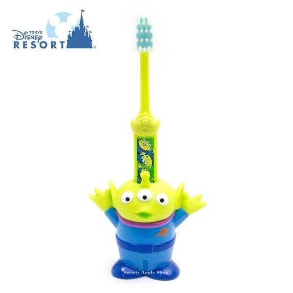 ( 現貨 & 樂園實拍 ) 日本 東京迪士尼 樂園限定 玩具總動員 三眼怪 牙刷 & 牙刷座 套組