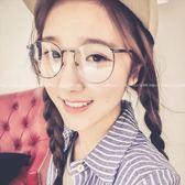 現貨-韓國ulzzang復古眼鏡金屬鏡框復古眼鏡眼鏡框女韓版潮復古圓形平光鏡架72
