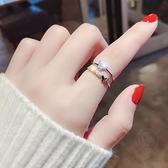 食指環蝴蝶戒指女時尚個性風開口可調節【小酒窝服饰】