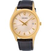 SEIKO 精工 時尚簡約手錶 SUR472P1 / 6N52-00D0J