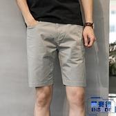 韓版短褲男休閒褲寬鬆五分褲中褲夏直筒褲薄款【英賽德3C數碼館】