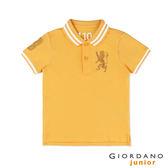【GIORDANO】童裝勝利獅王3D刺繡短袖POLO衫(28 水仙花黃)